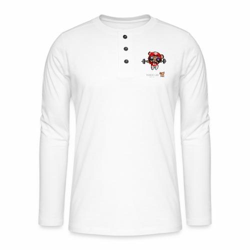 oso deportista - Camiseta panadera de manga larga Henley