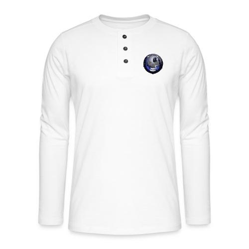 Rigormortiz Metallic Blue-Black Design - Henley long-sleeved shirt