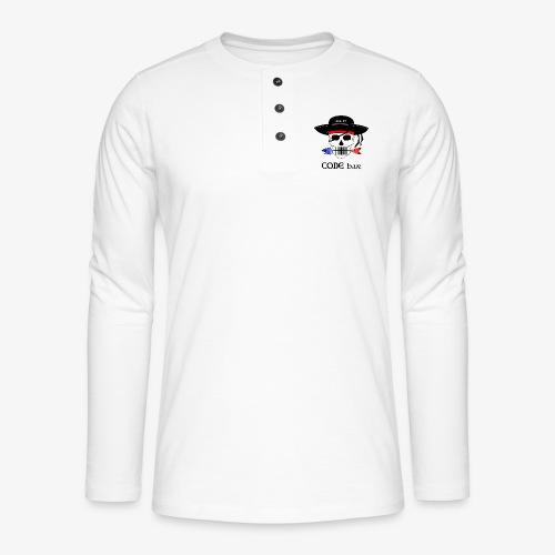 Code Bar couleur - T-shirt manches longues Henley