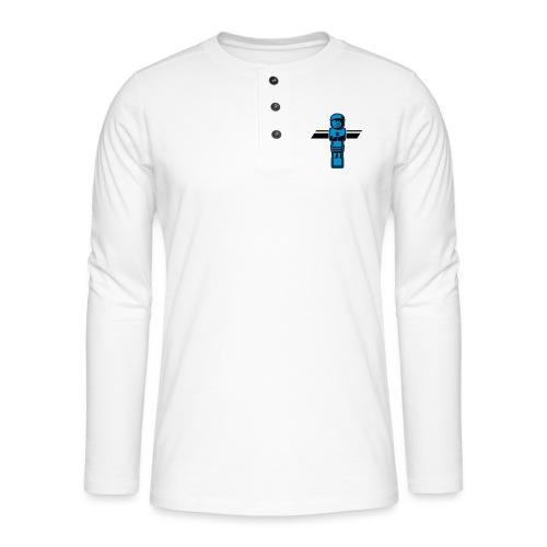 Soccerfigur 2-farbig - Kickershirt - Henley Langarmshirt