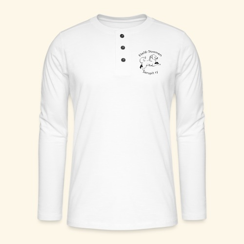 ES seropit logo musta - Henley pitkähihainen paita