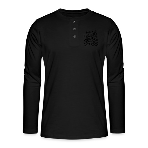 Multi Gender B/W - Henley shirt met lange mouwen