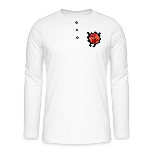 scary cartoon - Henley shirt met lange mouwen