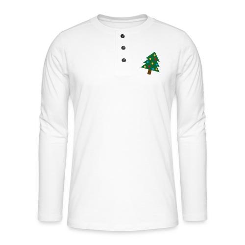 Weihnachtsbaum für hässliche Weihnachten - Henley Langarmshirt