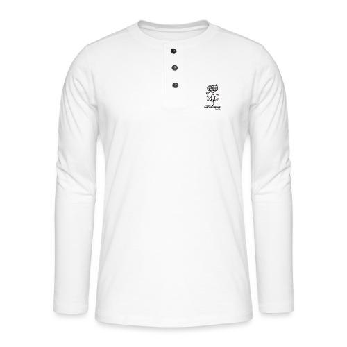 Døgnfluerne Short Comic Simpelt Logo Design. - Henley T-shirt med lange ærmer