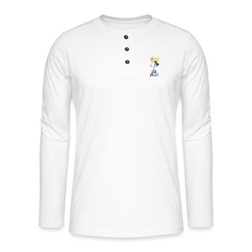 Lustige Ahoi Moewe - Henley Langarmshirt