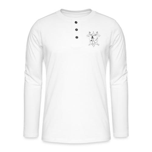 Naisten t-paita, musta logo - Henley pitkähihainen paita