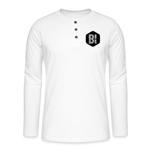 B brilliant black - Henley shirt met lange mouwen
