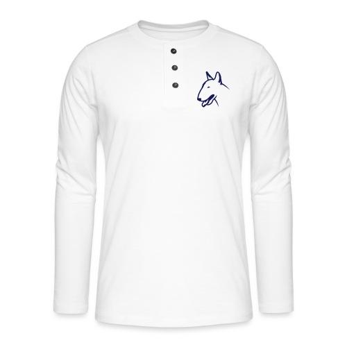Bullterrier BULLY HEAD 1c_4light - Henley Langarmshirt