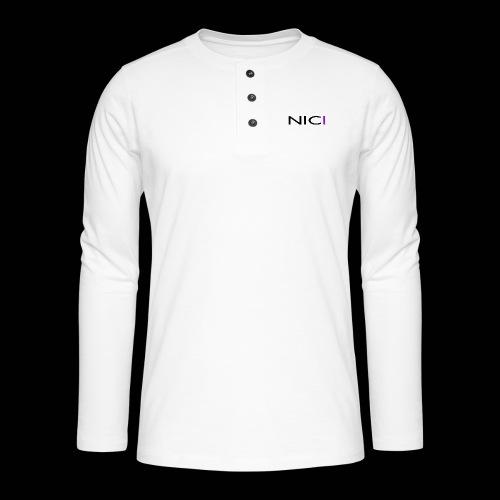 NICI logo Black - Henley pitkähihainen paita