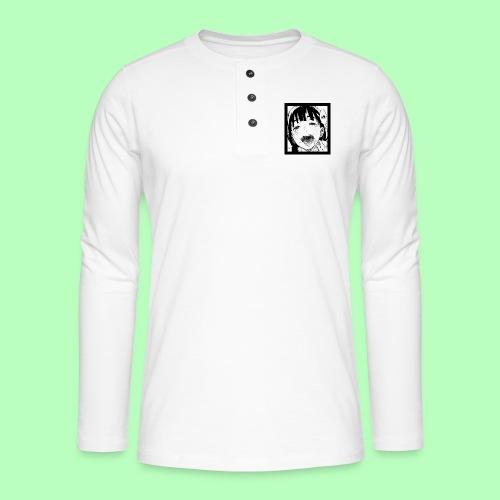 midori kanji - ahegao - Henley long-sleeved shirt