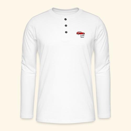 detailerlove - Henley shirt met lange mouwen