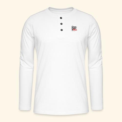 Clean,polish en wax - Henley shirt met lange mouwen