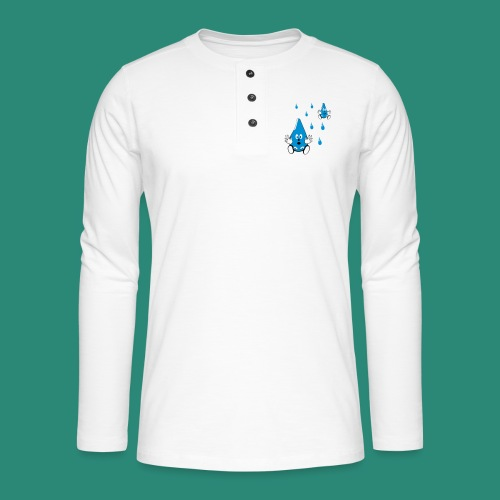 Tropfen - Henley Langarmshirt