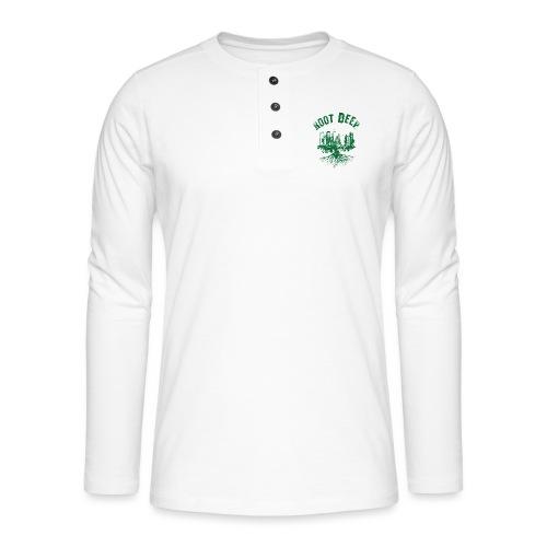 Root deep Urban grün - Henley Langarmshirt