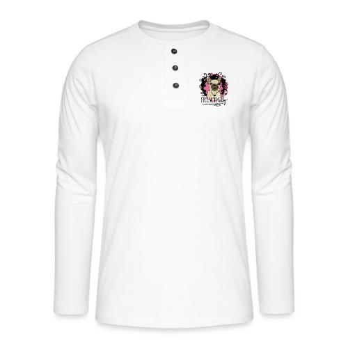 Pink - Henley Langarmshirt