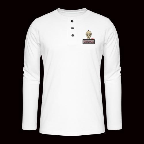 Knæk Cancer Kollektion ! - Henley T-shirt med lange ærmer