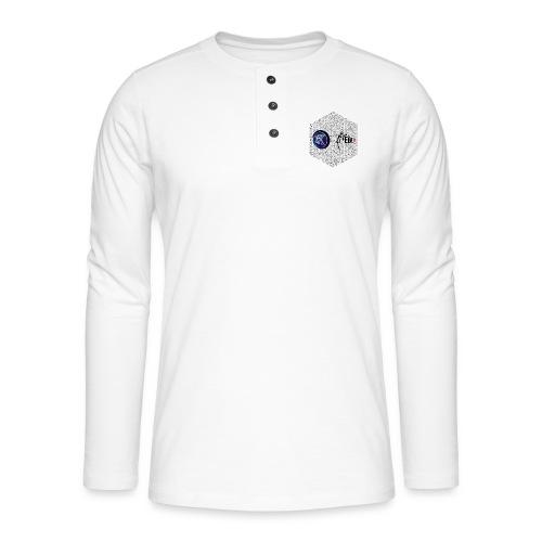 disen o dos canales cubo binario logos delante - Henley long-sleeved shirt