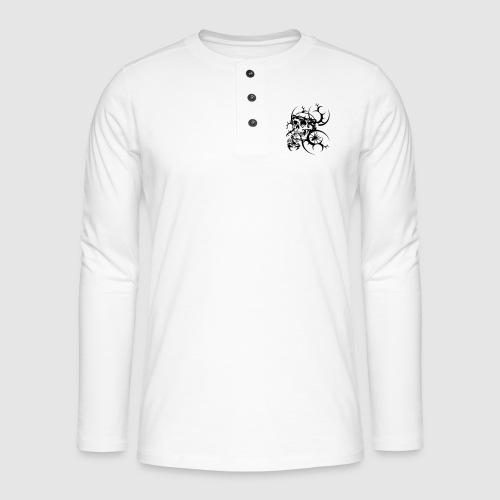 Tattoo Totenkopf - Henley Langarmshirt