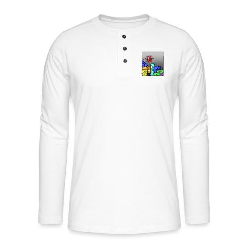 hamstris_farbe - Henley Langarmshirt