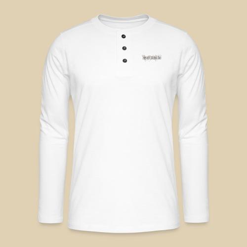 BF Waves Classic Design White - Henley Langarmshirt