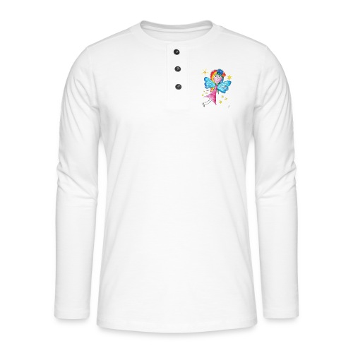 Happy Fairy 2 - Henley Langarmshirt
