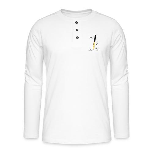 POHJOISVIITTA Merimerkit, tekstiilit ja lahjat - Henley pitkähihainen paita