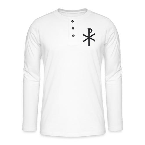 Christogram 1 - Henley T-shirt med lange ærmer