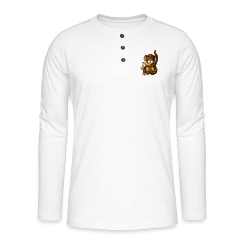 Super Fröhlicher Affe - Henley Langarmshirt