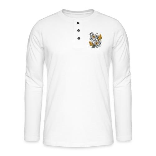 Chrysanthèmes enlacés - T-shirt manches longues Henley