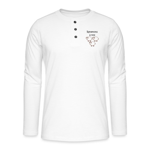 revenons-a-nos utons - T-shirt manches longues Henley