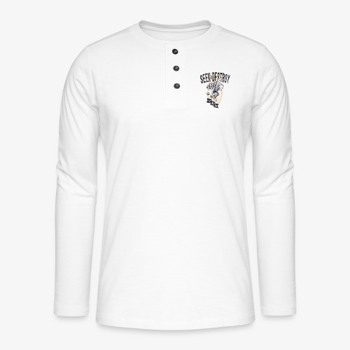 Seek Destroy - Shirts - Henley long-sleeved shirt
