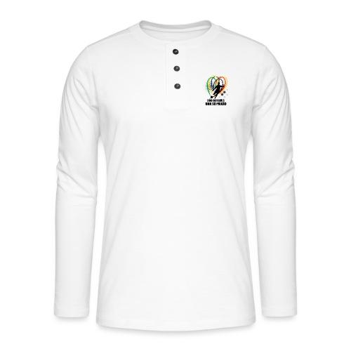 Fußball-Shirt Brasilien - Deutschland - Henley Langarmshirt