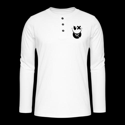 smiley acid techno vinyl - Henley long-sleeved shirt