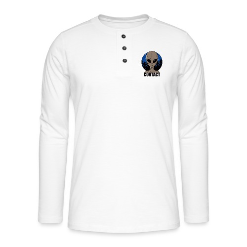 Contact Extraterrestre - T-shirt manches longues Henley
