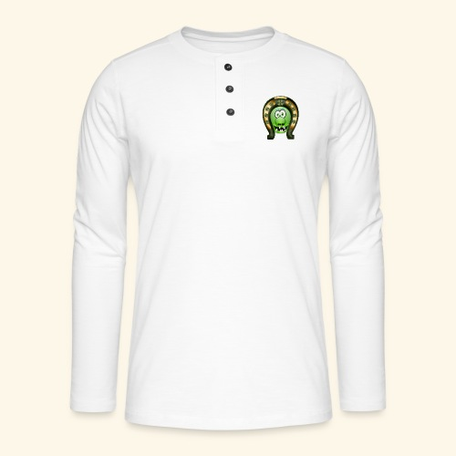 Mrs Saint Patricks green and gold clover decorated - Henley long-sleeved shirt