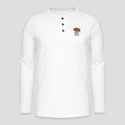 Pilz | für Männer, Frauen und Kinder - Henley Langarmshirt