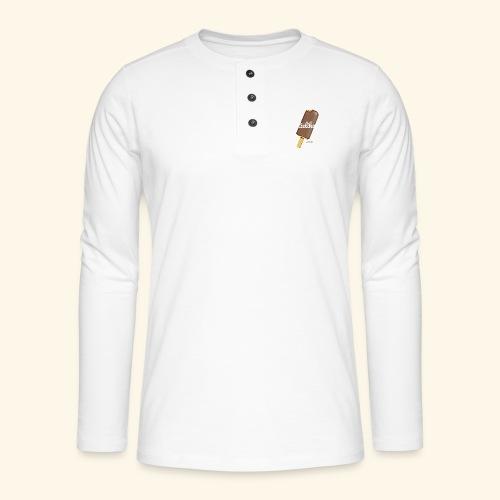 Eis am Stiel Geek T Shirt Spruch Stielikone - Henley Langarmshirt