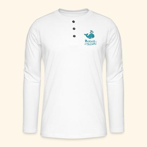 Protèges les océans - T-shirt manches longues Henley