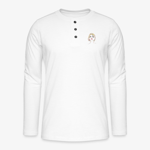 Pin-up - T-shirt manches longues Henley
