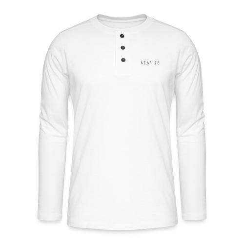 seafire logo BLACK - Henley shirt met lange mouwen