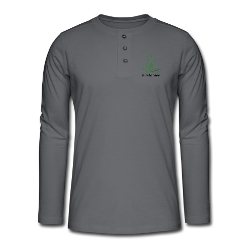 Sustained Sweatshirt - Henley T-shirt med lange ærmer