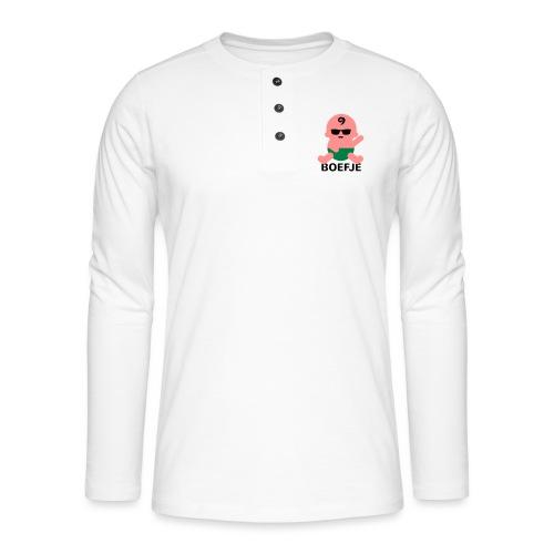 Grappige Rompertjes: Boefje - Henley shirt met lange mouwen