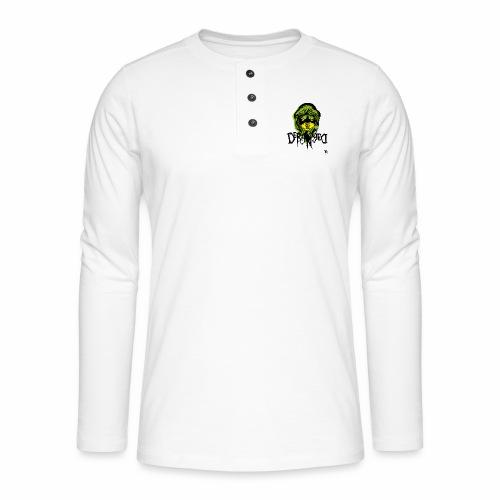 DerangeD - Tattoo Metal Horror Vampire - Henley T-shirt med lange ærmer