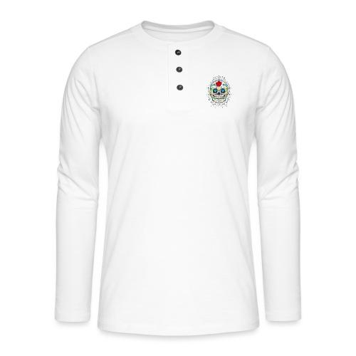 Rose und Diamantschädel - Henley Langarmshirt