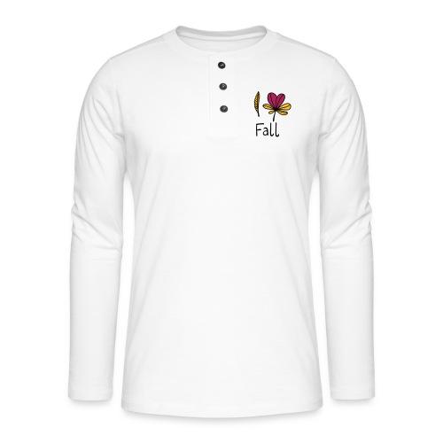 Fall in love - Henley Langarmshirt