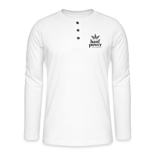Hanf Power Logo - Henley Langarmshirt
