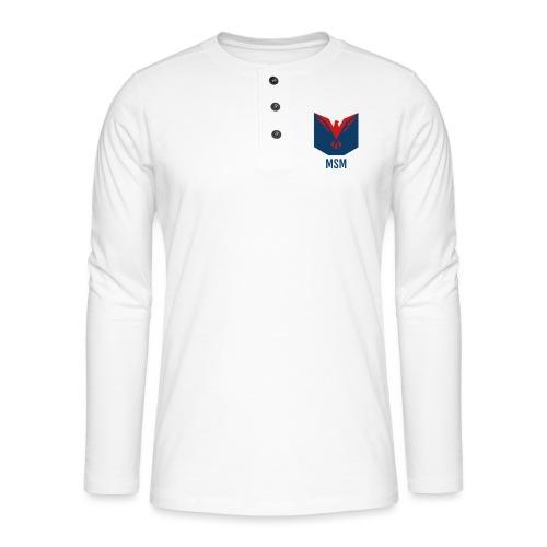 MSM ORIGINAL - Henley T-shirt med lange ærmer