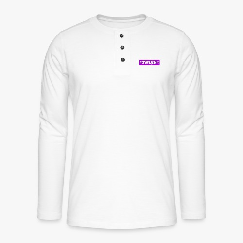 trish logo - Henley long-sleeved shirt