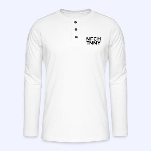 Einfach Tommy / NFCHTMMY / Black Font - Henley Langarmshirt